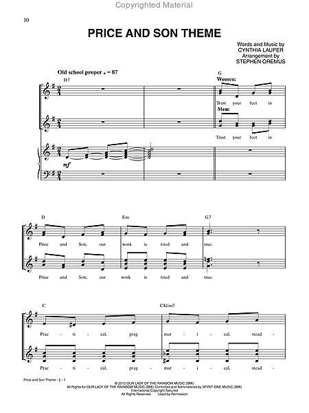 Kinky Boots -- Sheet Music From The Broadway Musical Sheet Music ...