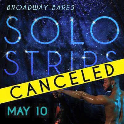 Broadway Fund Raiser Canceled