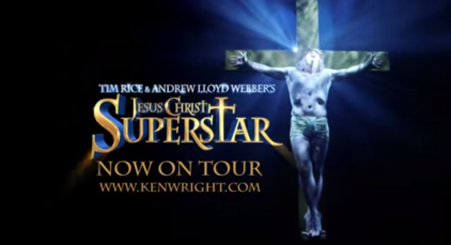 Glenn Carter as Jesus Christ in Jesus Christ Superstar