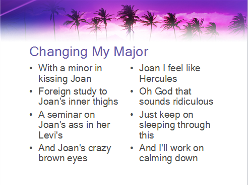 Changing My Major