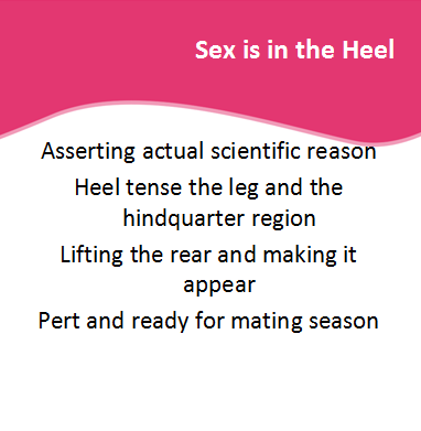 Sex is in the Heel