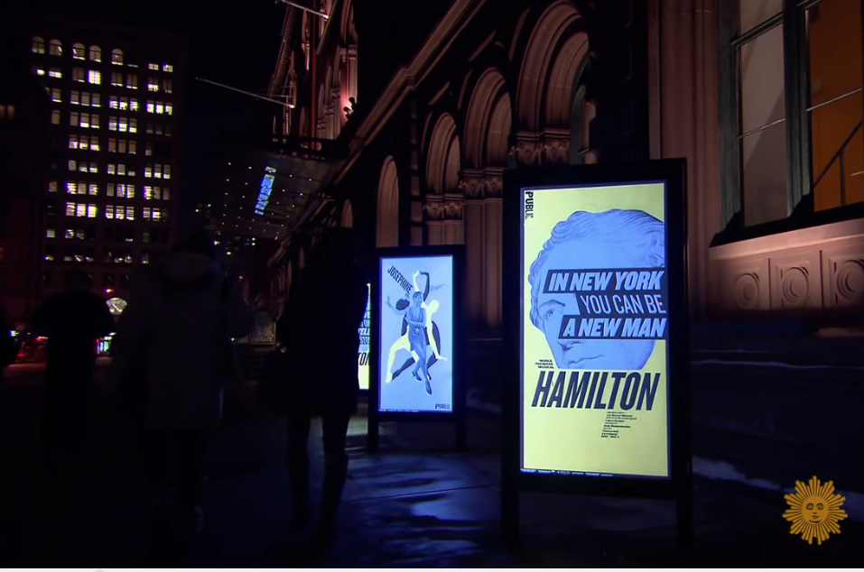 Hamilton The Musical on Broadway