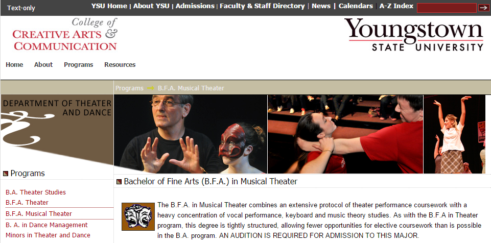 Musical Theater Colleges in Ohio