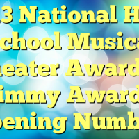 2013 National High School Musical Theater Awards – Jimmy Awards Opening Number