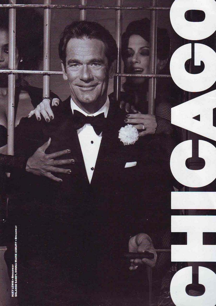 Chicago the Musical (Souvenir Brochure - Broadway - Huey Lewis ...